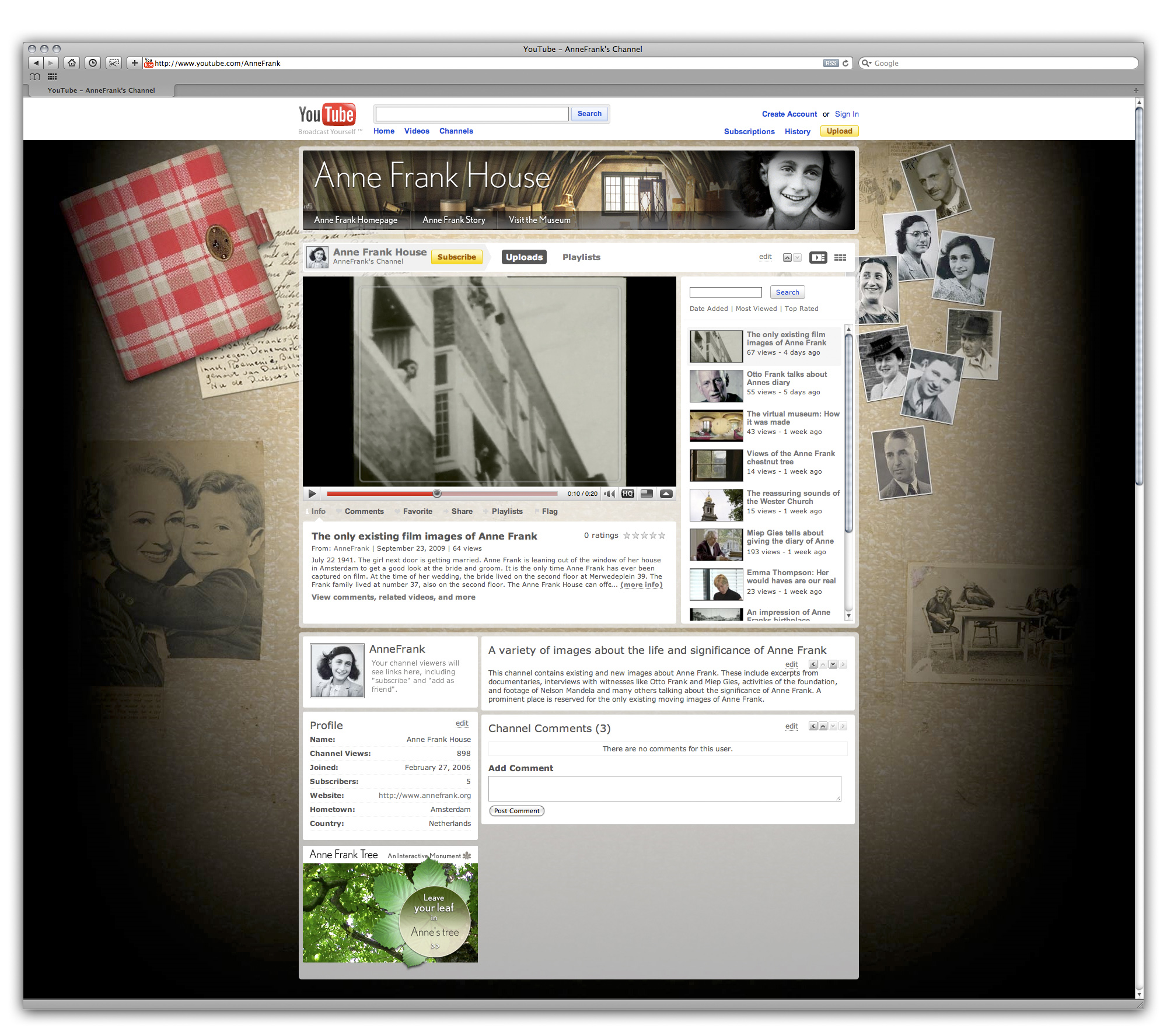 Da oggi disponibile su youtube l 39 unico filmato di anna frank for Youtube oggi