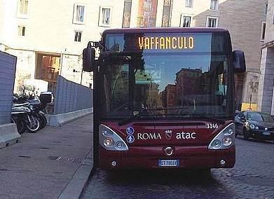 Tutti a bordo autobus in partenza prossima destinazione for Roma mobile atac