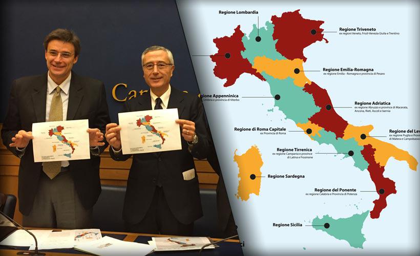 Il pd vuole ridisegnare litalia ecco le regioni che spariranno thecheapjerseys Images