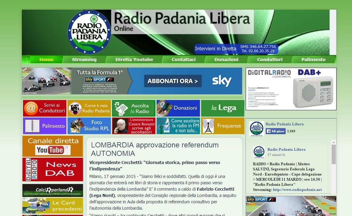 Radio Padania finisce in mani calabresi