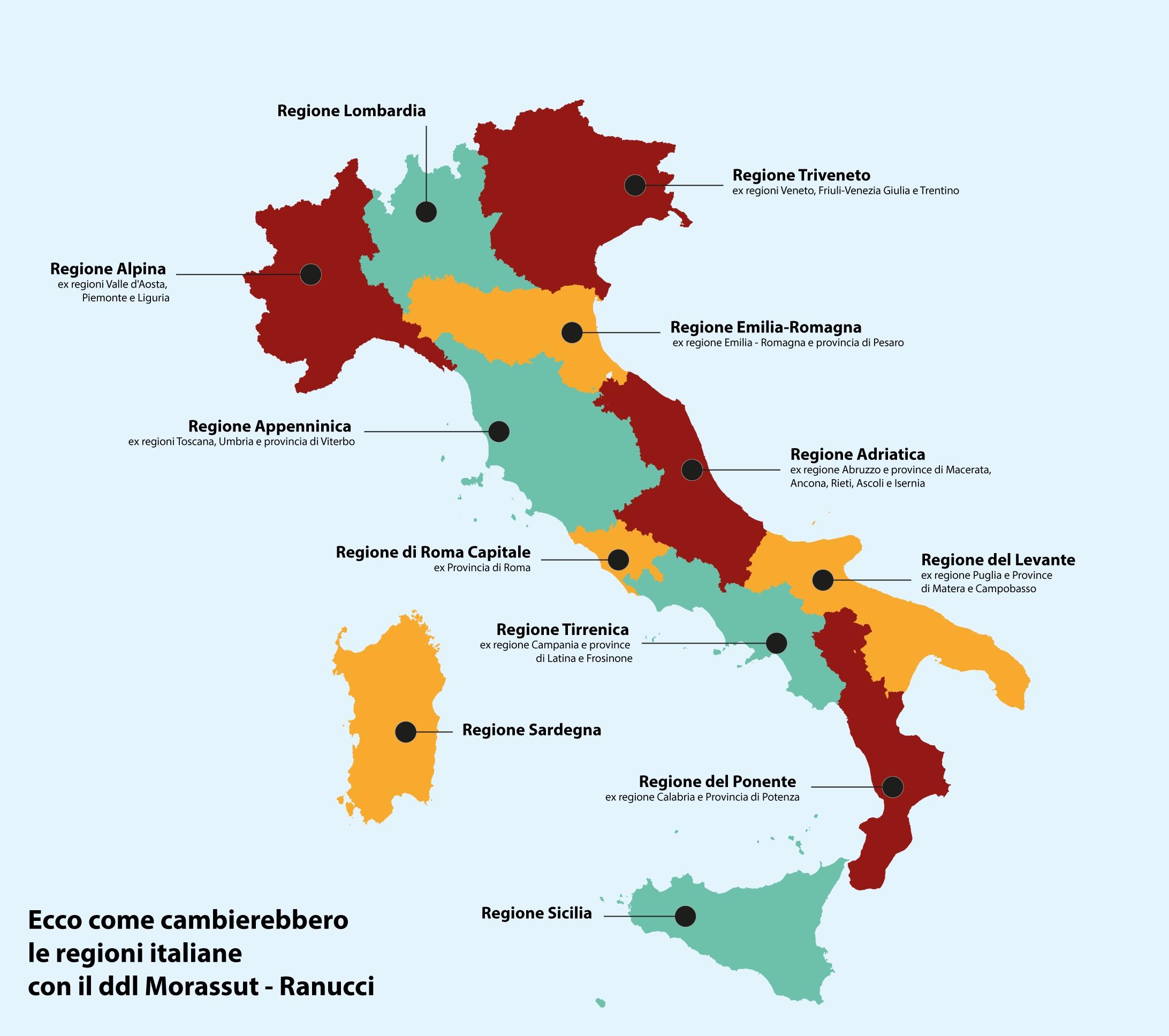 Provincia Di Roma Cartina Geografica.Nuove Regioni E Accorpamenti Ecco Il Dossier Del Governo