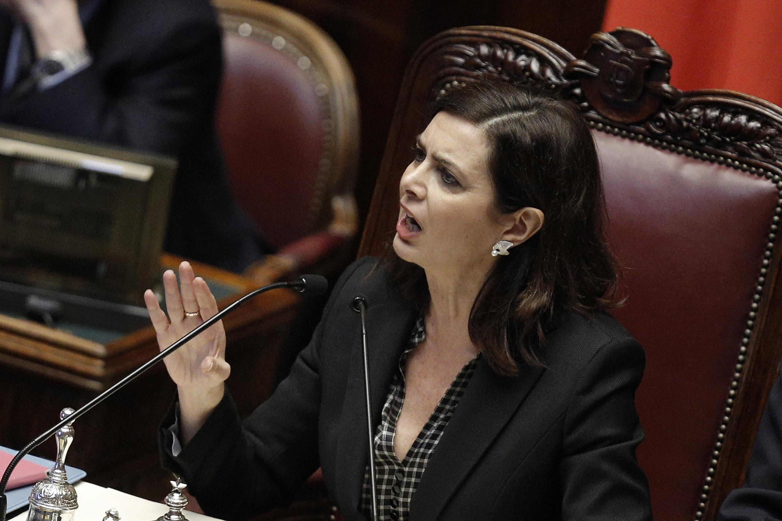 Discorso Camera Boldrini : Boldrini  donne in aula camera ultima ora ansa