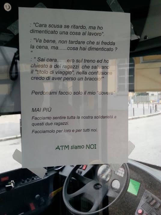 Milano il cartello di solidariet ai controllori - Condominio lavori ...