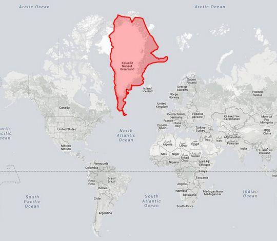 Il mondo a grandezza reale la nuova mappa geografica for Mappa mondo bianco e nero