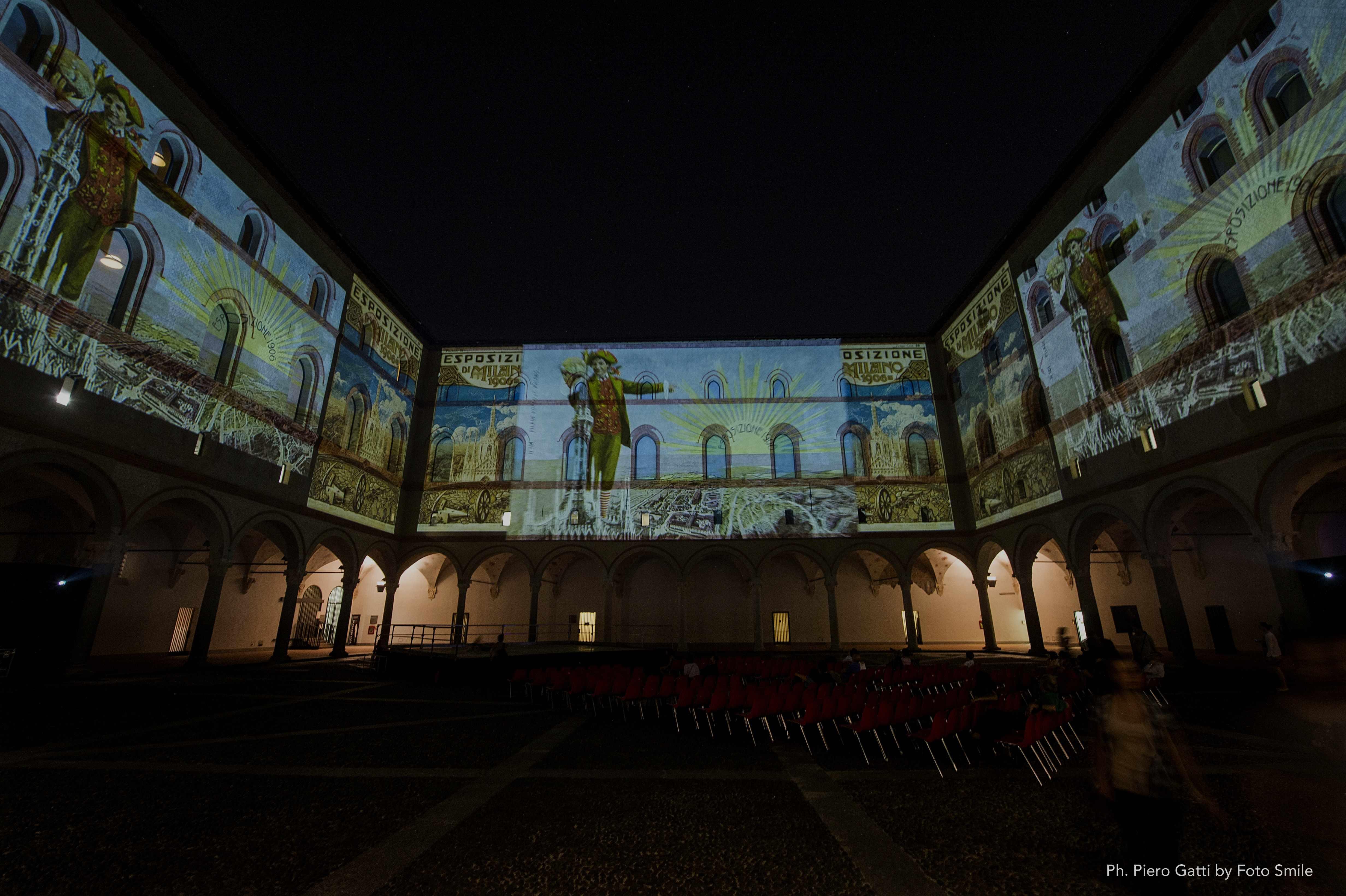 Il castello di carta luci immagini e suoni dall 39 expo for Disegni del mazzo del cortile