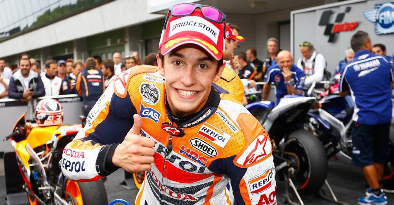 Marquez è campione del mondo Rossi cade, addio alla rimonta