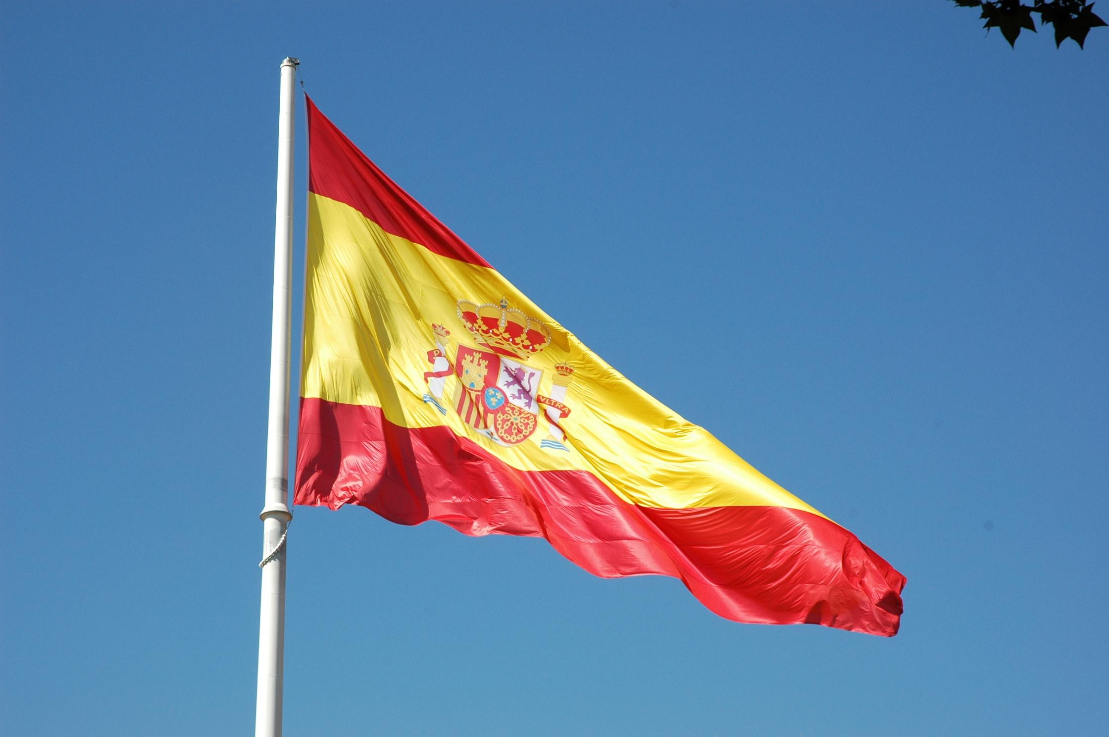 La Bandiera Spagnola Si Avvicina A Gibilterra Il Governo Di Madrid