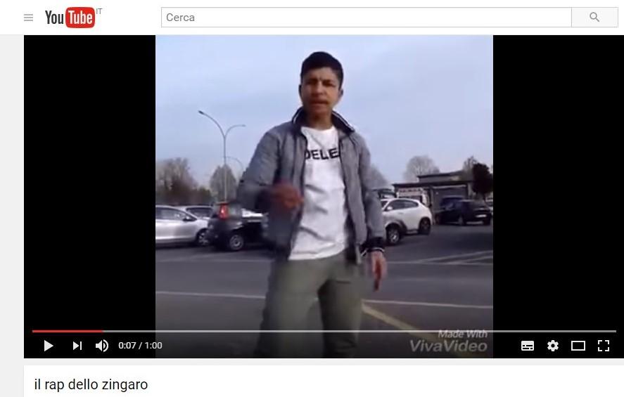 39 il rap dello zingaro 39 il video che fa indignare gli italiani for Prova dello specchio polizia youtube