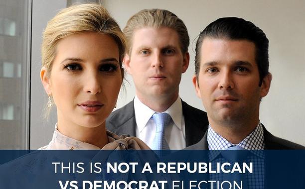 Sfottò sui social network contro i figli di Trump