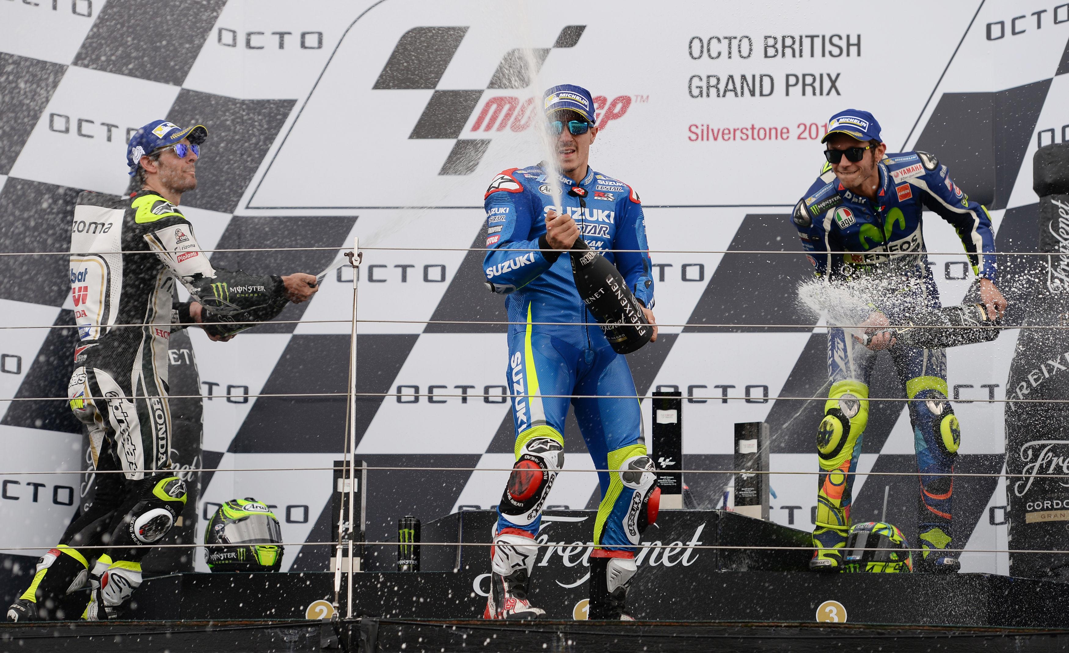 MotoGp, trionfa Vinales. Rossi terzo, cade Iannone