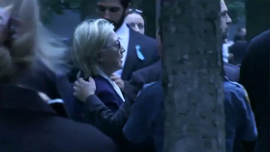 11 settembre, malore a Ground Zero: la Clinton lascia la cerimonia