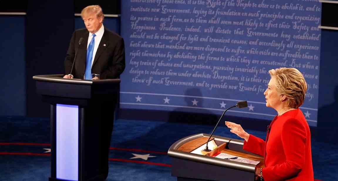 Tasse, lavoro e lotta all'Isis nel primo dibattito tra Trump e Clinton