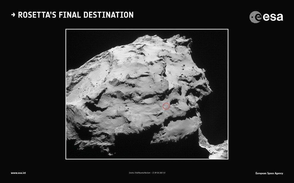 Finita la corsa di Rosetta, la sonda atterra sulla cometa 67/P