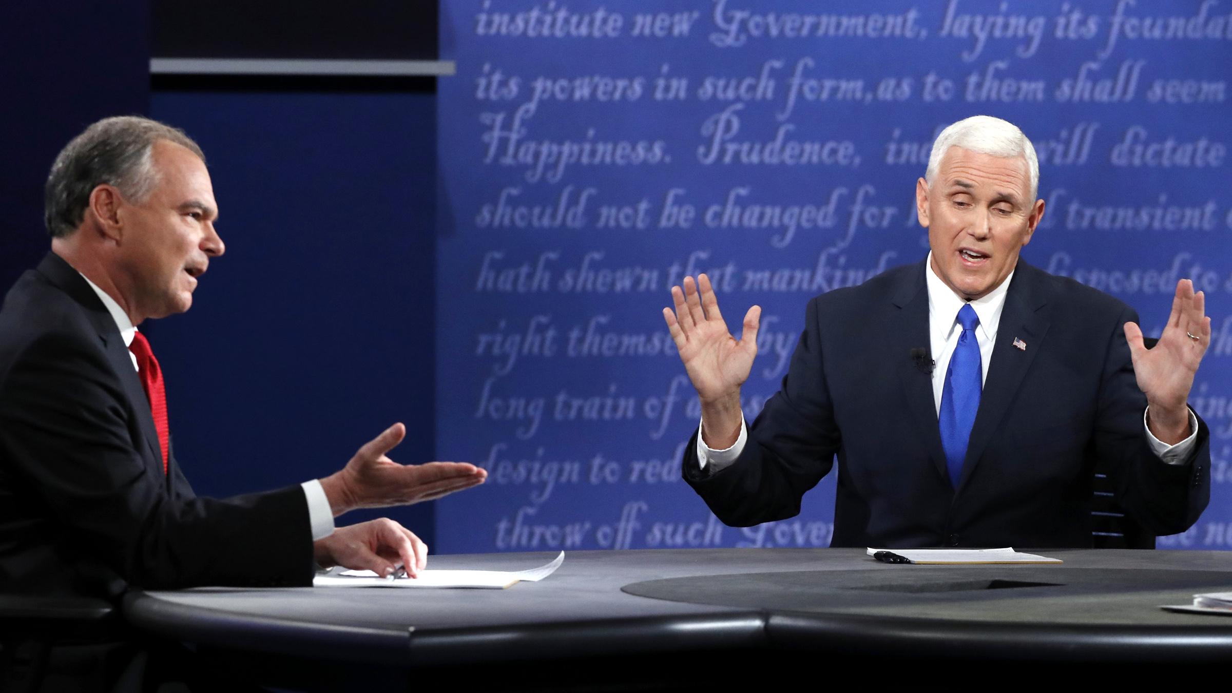 Usa 2016, duello in tv tra i candidati alla vicepresidenza. Vince il repubblicano Pence