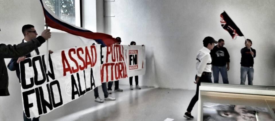 Al Maxxi la mostra anti Assad: scatta il blitz contro Melandri