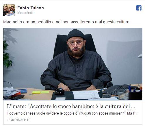 """Pubblica articolo de """"ilGiornale"""". Bufera sul leghista anti-islam"""
