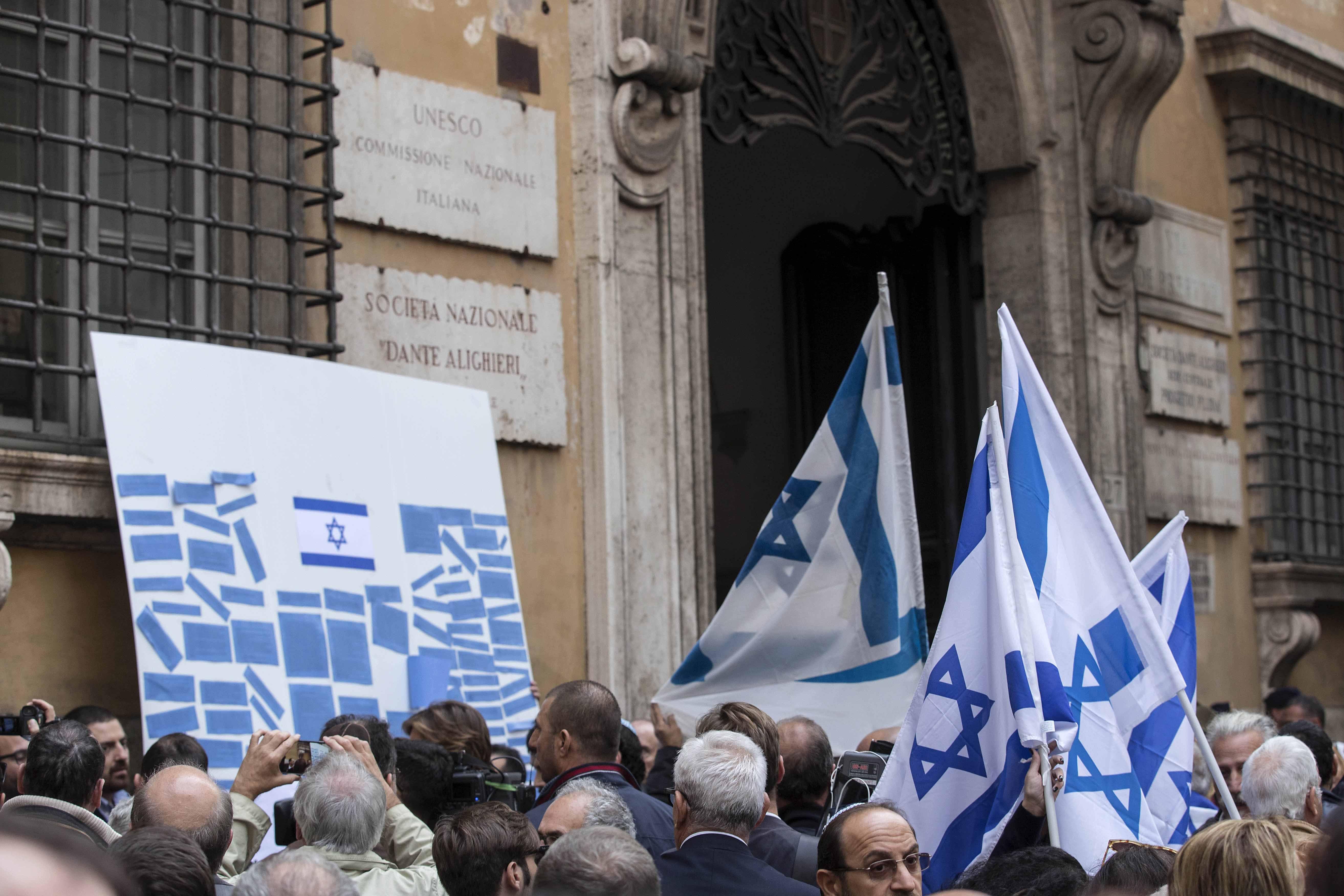 Muro del pianto, protesta pro Israele davanti alla sede dell'Unesco