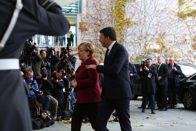 Gelo tra Merkel e Renzi
