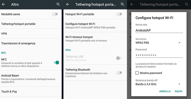Android: come impostare il tethering WiFi - IlGiornale it