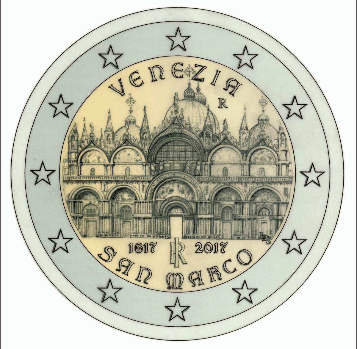 sar dedicata a venezia la nuova moneta da 2 euro. Black Bedroom Furniture Sets. Home Design Ideas