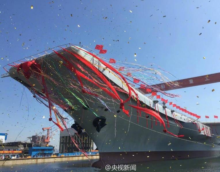 Varata la prima portaerei interamente costruita in cina - Nuova portaerei ...