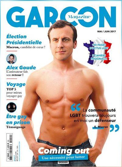 Macron a torso nudo sulla copertina di una rivista gay: è