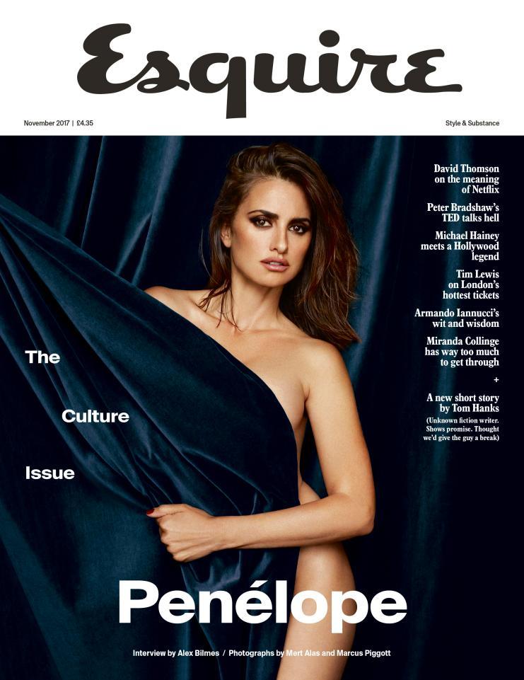 Penelope cruz a 42 anni posa nuda per la rivista esquire - Nuda allo specchio ...