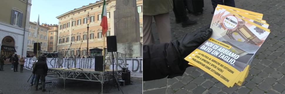 I grillini convocano gli elettori a roma ma la piazza for Piazza montecitorio 12