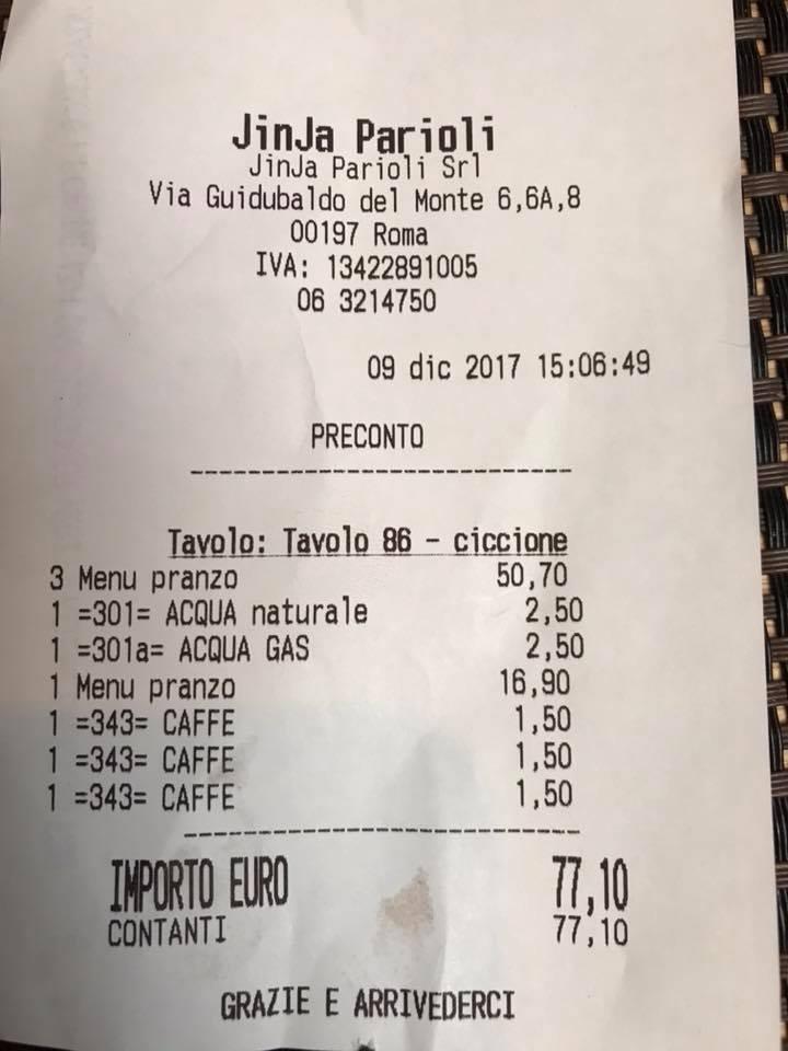 Roma clienti chiamate ciccione sullo scontrino del pranzo for Marlen leroy