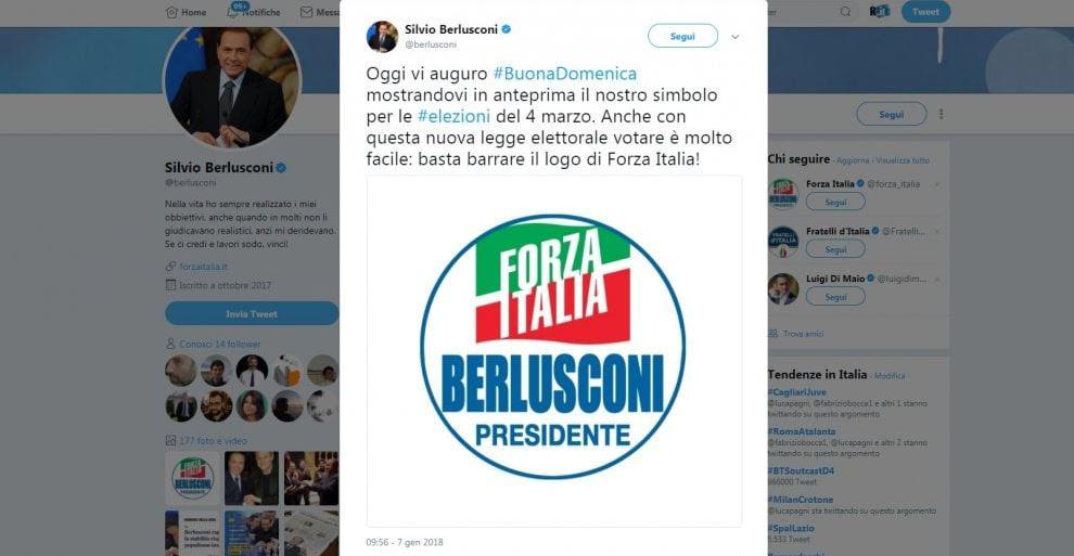 Berlusconi presidente il nuovo simbolo di forza italia for Parlamentari di forza italia