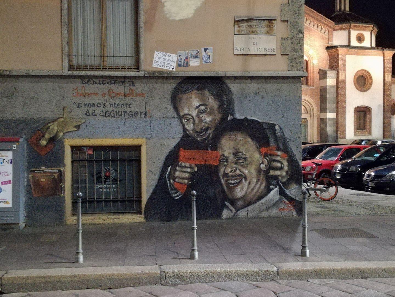 Ripulito murales di falcone e borsellino sfregiato a milano for Ristorante murales milano