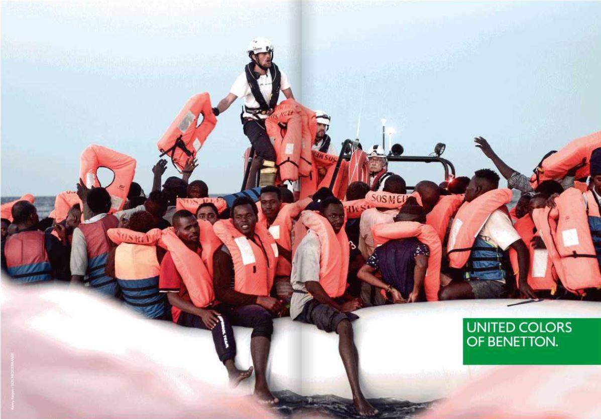 dbfc3980539c Lo spot Benetton coi migranti. Ira Lega