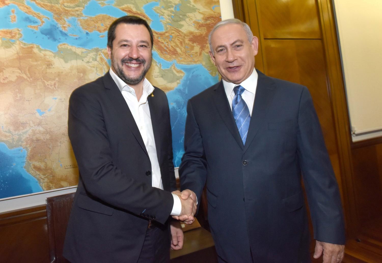 """Risultato immagini per Salvini e Netanyahu immagini"""""""