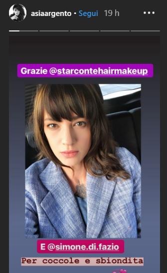 Asia Argento sfoggia un nuovo look - IlGiornale.it