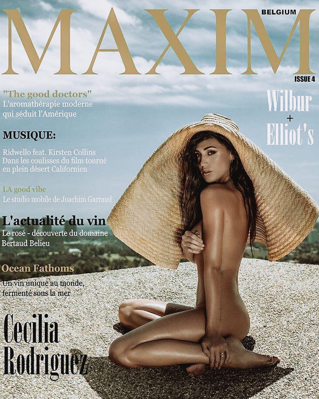 Belen Nuda Calendario.Cecilia Rodriguez Nuda Su Maxim Ilgiornale It