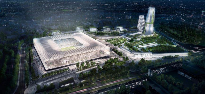 Nuovo stadio san siro svelati i due progetti per la casa for Progetti per la casa
