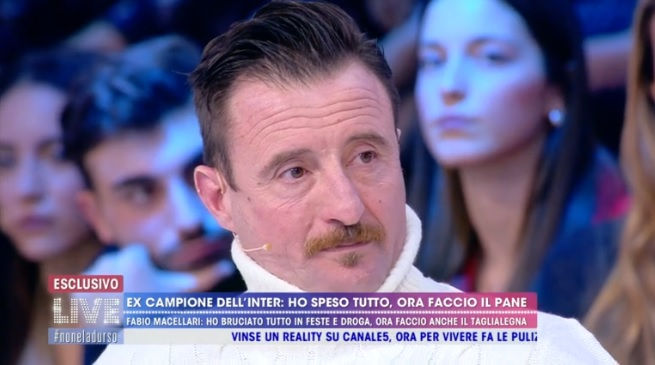 """L'ex calciatore Fabio Macellari: """"Ho fatto la bella vita esagerando"""""""