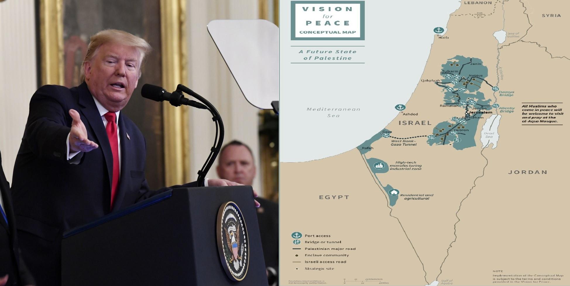 Palestina Oggi Cartina Geografica.Trump Cambia Il Medio Oriente Ora Una Mappa Rivela Il Piano Ilgiornale It