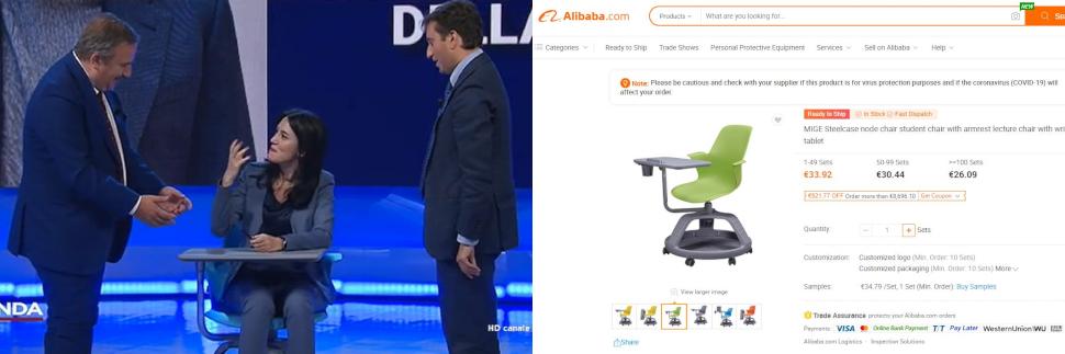 Trecento euro per un banco da 30, la verità sui banchi di Azzolina thumbnail