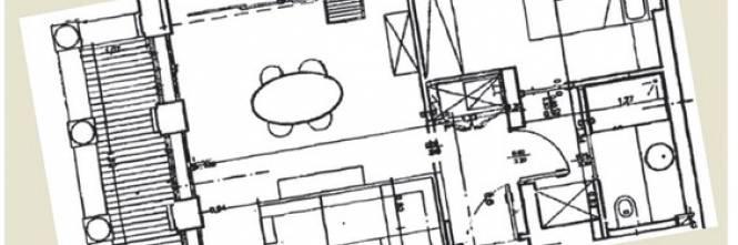 Camera cucina e soggiorno la piantina dell alloggio - Quadri per sala da pranzo ...