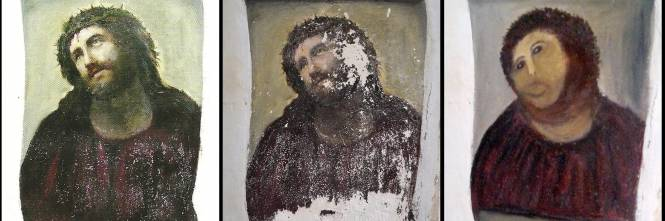Spagna restaura un dipinto e sfigura cristo del xix secolo for Specchio antico rovinato