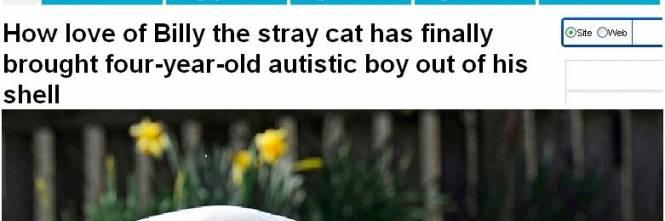 Il bambino autistico rinato grazie a un gattino randagio - Tre vite allo specchio ...