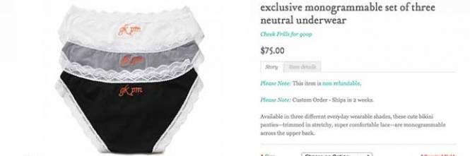 Gwyneth paltrow vende slip con le iniziali dell'ex marito 1