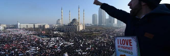 Grozny, manifestazione contro Charlie Hebdo 1