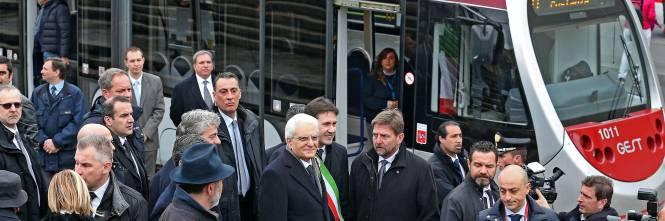 Mattarella va a Firenze in treno e tram 1