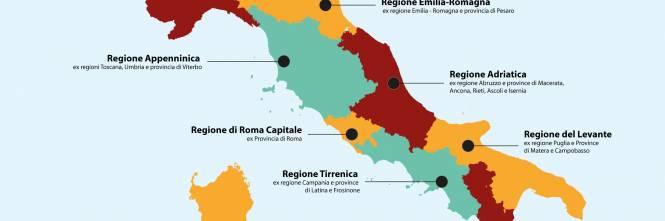 Nuove Regioni E Accorpamenti Ecco Il Dossier Del Governo