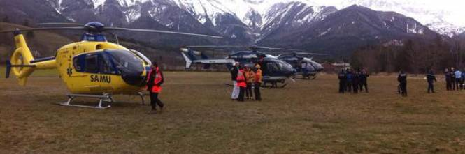I soccorsi all'aereo GermanWings precipitato in Francia 1
