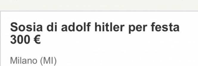 """Annuncio choc: """"Cercasi sosia di Hitler per un battesimo"""" 1"""