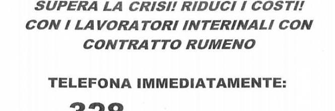 L Agenzia Interinale Propone Lavoratori Coi Contratti Rumeni