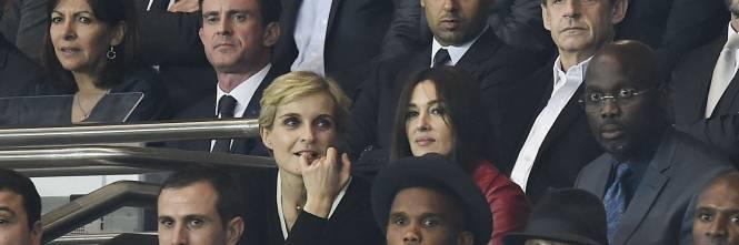 Bellucci e Sarkozy allo stadio 1